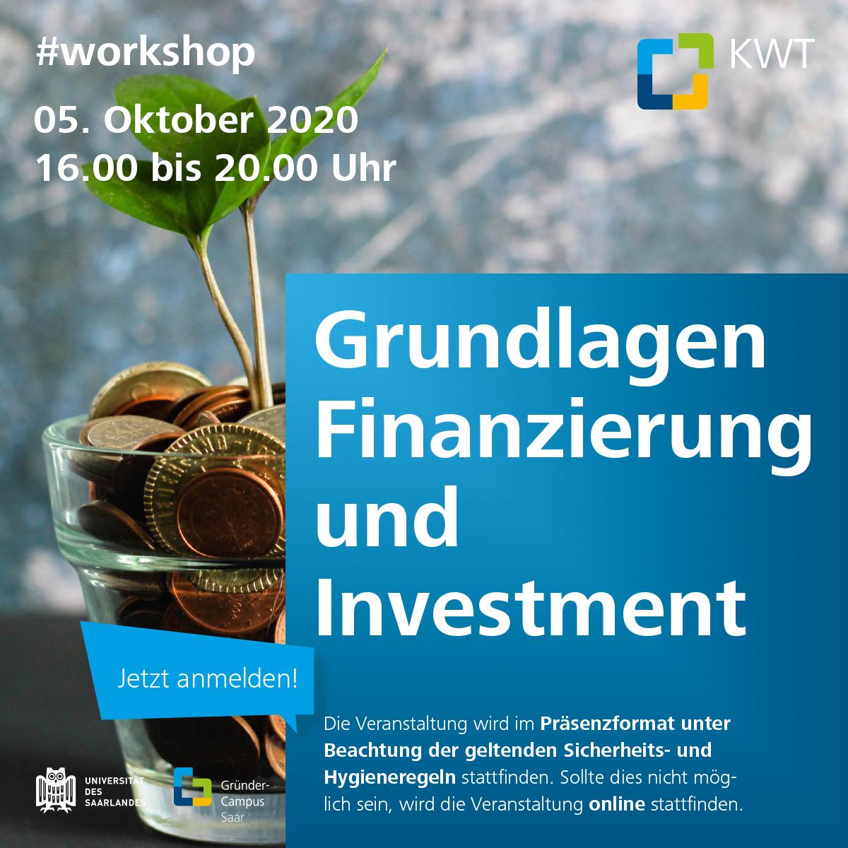 Workshop Grundlagen Finanzierung & Investment