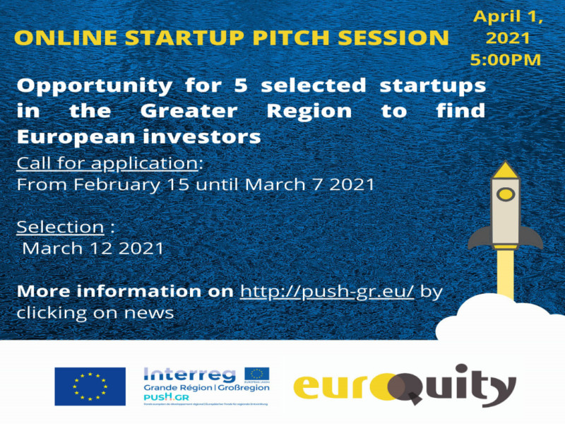 Online Startup Pitch Session – Call