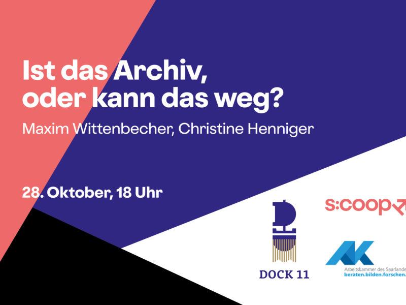 Workshop »Ist das Archiv, oder kann das weg? (Darstellende) Kunst archivieren« 1