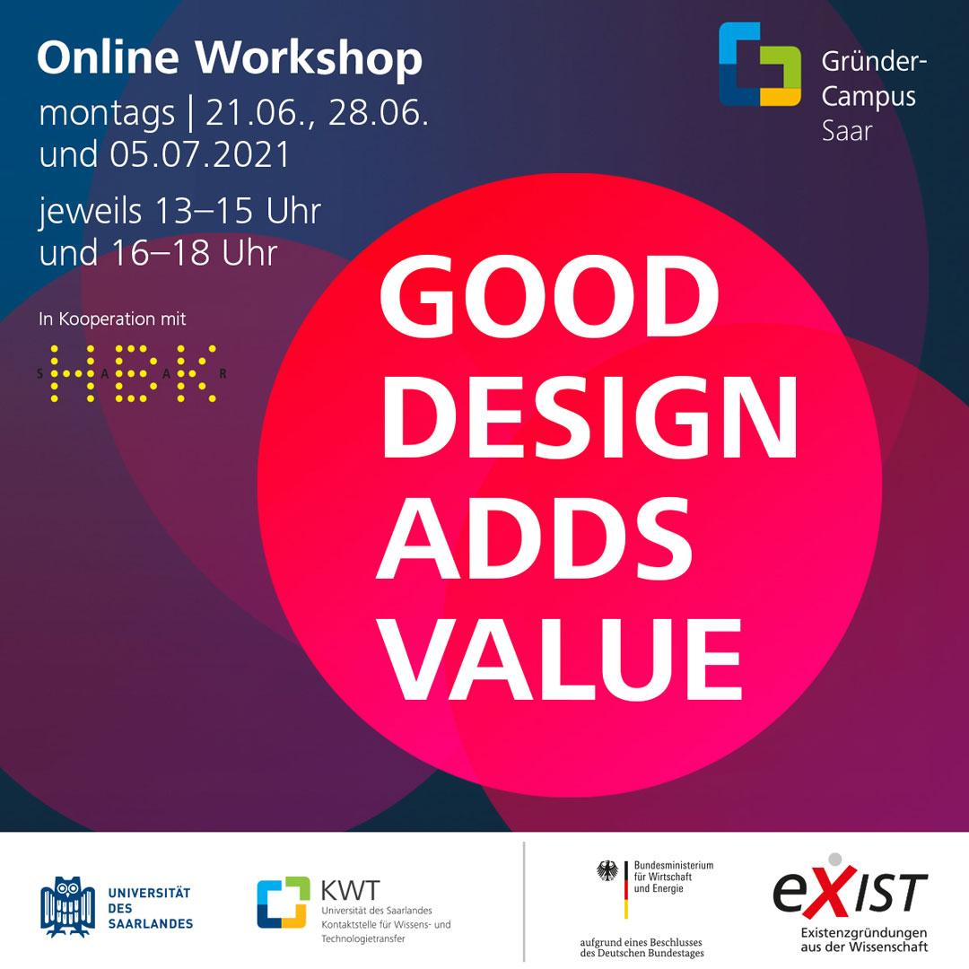 Workshop Good Design Adds Value